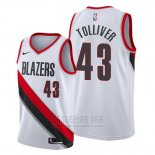 Camiseta Portland Trail Blazers Anthony Tolliver #43 Association Blanco
