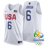 Camiseta USA 2016 Lebron James #6 Blanco