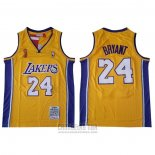 Camiseta Los Angeles Lakers Kobe Bryant #24 2009 Finals Amarillo