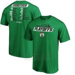 Camiseta Manga Corta Boston Celtics Verde 2019 NBA Playoffs Tradition Roster