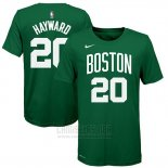 Camiseta Manga Corta Gordon Hayward Boston Celtics 2019 Verde