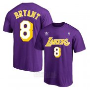 Camiseta Manga Corta Kobe Bayant 8 Los Angeles Lakers Violeta2