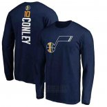 Camiseta Manga Larga Mike Conley Utah Jazz Azul