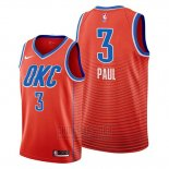 Camiseta Oklahoma City Thunder Chris Paul #3 Statement Naranja