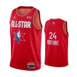 Camiseta All Star 2020 Los Angeles Lakers Kobe Bryant #24 Rojo