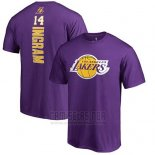 Camiseta Manga Corta Brandon Ingram Los Angeles Lakers Violeta