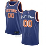 Camiseta New York Knicks Nike Personalizada 17-18 Azul
