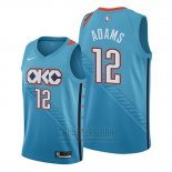 Camiseta Oklahoma City Thunder Steven Adams #12 Ciudad Edition Azul