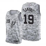 Camiseta San Antonio Spurs Luka Samanic #19 Earned 2019-20 Camuflaje