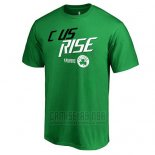 Camiseta Manga Corta Boston Celtics Verde 2018 NBA Playoffs Slogan