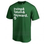 Camiseta Manga Corta Boston Celtics Verde Kyrie Irving & Jayson Tatum & Gordon Hayward