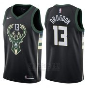 Camiseta Milwaukee Bucks Malcolm Brogdon #13 Statement Harley 2017-18 Negro