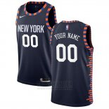 Camiseta New York Knicks Personalizada Ciudad Edition Azul