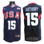 Camiseta USA 2008 Anthony #15 Azul