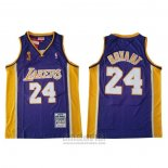 Camiseta Los Angeles Lakers Kobe Bryant #24 2009 Finals Violeta