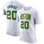 Camiseta Manga Corta Gordon Hayward Boston Celtics Blanco Ciudad