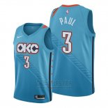 Camiseta Oklahoma City Thunder Chris Paul #3 Ciudad Azul