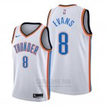 Camiseta Oklahoma City Thunder Jawun Evans #8 Association Blanco