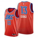 Camiseta Oklahoma City Thunder Paul George #13 Statement Naranja