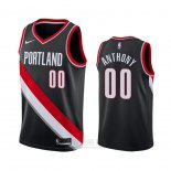 Camiseta Portland Trail Blazers Carmelo Anthony #00 Icon Negro