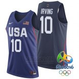 Camiseta USA 2016 Kyrie Irving #10 Azul