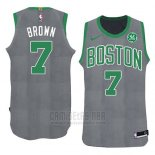Camiseta Boston Celtics Jaylen Brown Navidad 2018 Verde