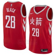 Camiseta Houston Rockets Tarik Black #28 Ciudad 2018 Rojo