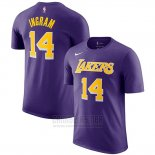 Camiseta Manga Corta Brandon Ingram Los Angeles Lakers 2019 Violeta