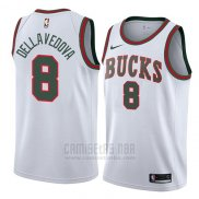 Camiseta Milwaukee Bucks Matthew Dellavedova #8 Classic 2018 Blanco