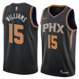 Camiseta Phoenix Suns Alan Williams #15 Statement 2018 Negro