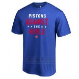 Camiseta Manga Corta Detroit Pistons Azul Against The USA