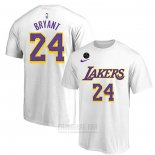 Camiseta Manga Corta Kobe Bayant 24 Los Angeles Lakers Blanco Commemorativo