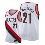 Camiseta Portland Trail Blazers Hassan Whiteside #21 Association Blanco
