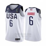 Camiseta USA Joe Harris #6 2019 FIBA Basketball USA Cup Blanco