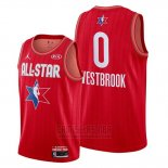 Camiseta All Star 2020 Houston Rockets Russell Westbrook #0 Rojo