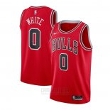 Camiseta Chicago Bulls Coby White #0 Icon Rojo