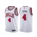 Camiseta Chicago Bulls Jerry Sloan #4 Association Blanco