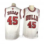 Camiseta Chicago Bulls Michael Jordan #45 Retro Blanco