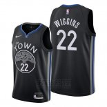 Camiseta Golden State Warriors Andrew Wiggins #22 Ciudad 2019-20 Negro