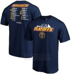 Camiseta Manga Corta Denver Nuggets Azul Marino 2019 NBA Playoffs Tradition Roster