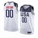 Camiseta USA Personalizada 2019 FIBA Basketball USA Cup Blanco