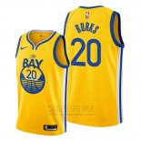 Camiseta Golden State Warriors Alec Burks #20 Statement 2019-20 Amarillo
