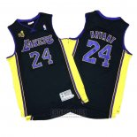 Camiseta Los Angeles Lakers Kobe Bryant #24 2009-10 Finals Negro