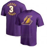 Camiseta Manga Corta Isaiah Thomas Los Angeles Lakers Violeta
