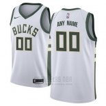Camiseta Milwaukee Bucks Nike Personalizada 17-18 Blanco