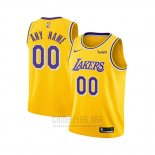 Camiseta Nino Los Angeles Lakers Personalizada Icon 2018-19 Amarillo