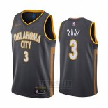 Camiseta Oklahoma City Thunder Chris Paul #3 Ciudad Negro