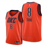 Camiseta Oklahoma City Thunder Jawun Evans #8 Earned Naranja