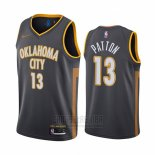 Camiseta Oklahoma City Thunder Justin Patton #13 Ciudad Negro