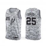 Camiseta San Antonio Spurs Jakob Poeltl #25 Earned Camuflaje